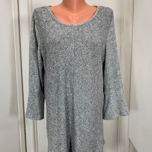 Apt 9 flared 3/4 sleeves tunic sweater XXL